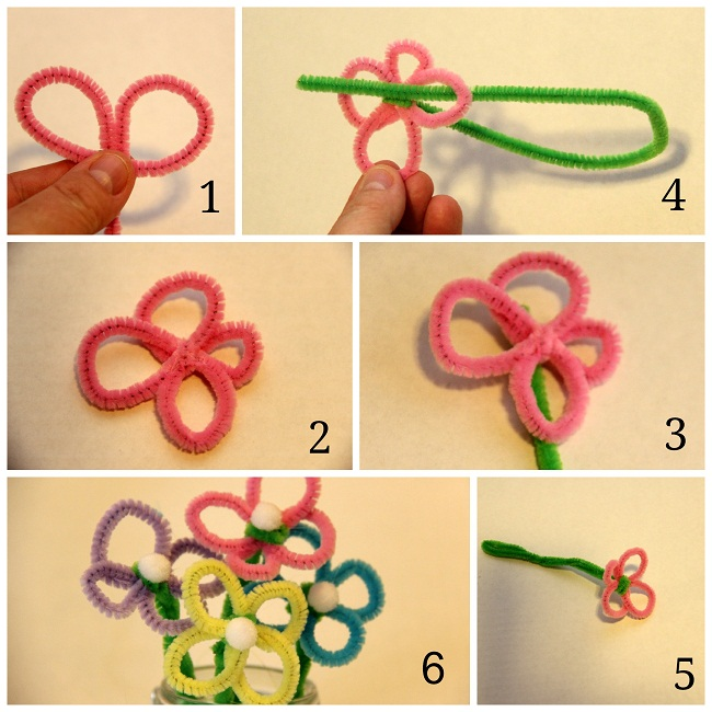 How To Make Pipe Cleaner Flowers The Easy Way