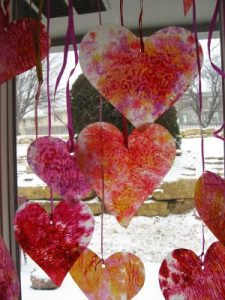 Melted Crayon Wax Paper Hearts