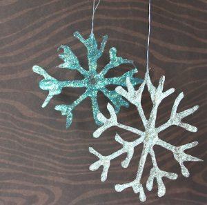 Glitter Glue Snowflakes