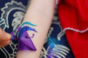 Glitter Glue Tattoo