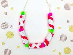 Painting Macaroni Necklace
