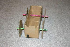 Cardboard Box Rubber Band Car
