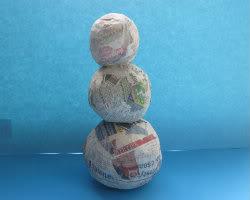 Paper Mache Snowman Picture 2