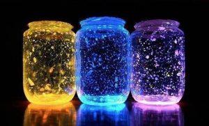 Homemade Glow Stick Lanterns