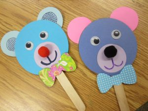 Popsicle Craft Stick Bear Puppet